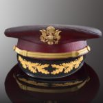 Deep pink cast glass hat